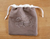 small drawstring bag - freeform sampler