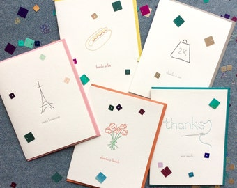 Bundle of Five Thank You Cards
