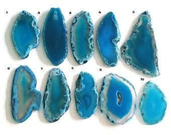 1pcs Natural MarineBlue Agate Gemstone Big Pendants R300-07