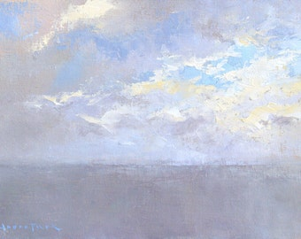 Summer Clouds, landscape oil painting, direct from artist