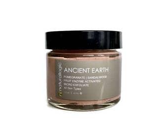 ANCIENT EARTH Micro Exfoliate. Face Scrub. Polish. Facial Scrub. Micro Polish. Dermabrasion. Gentle. Natural Organic Skin Care. Vegan.