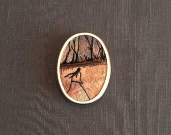 My Lady Brooch/Shawl Pin Series... My Lady #4
