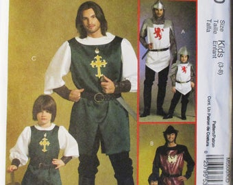 Craft Sewing Pattern McCalls 5500 Childrens & Boys Knight, Prince and Samurai Costumes Pattern Size 3-8 Uncut