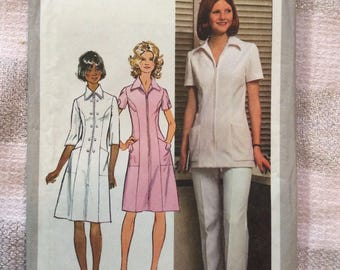 Vintage Simplicity Pattern 9506 Woman's Nurse Uniform Dress Tunic Pants 20 1/2