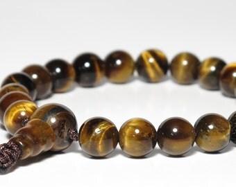 Tiger Eye 21-Bead Wrist Mala