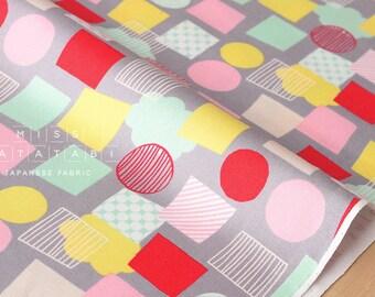 Japanese Fabric Lecien color basic plus - shapes grey - fat quarter