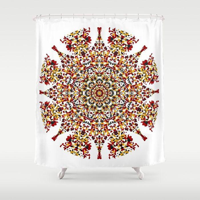 Shower Curtain Mandala Shower Boho Shower Curtain Boho