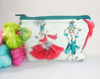 Christmas Party mini zippy bag by AnniePurl