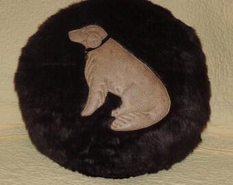golden retriever accent pillow,faux fur,golden,pet lover,dog pillow,golden,dog,faux fur pillow,faux fur and faux leather pillow