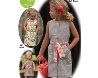 Olive Ann PATTERN - Classy Cargo Dress - Sizes 2-10