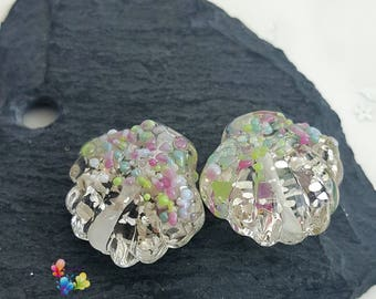 Lampwork Beads Delightful Sparkling Shells