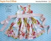 SALE Girls Dress Pattern - Perfect Party Dress - Classic GIrls Dress Pattern with Sash - PDF