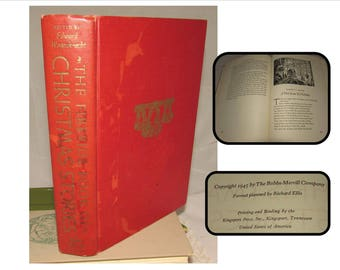 Vintage Hardcover Childrens Book, The Fireside Book of Christmas Stories, 1945, Wagenknecht, Morgan, short stories