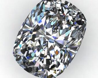ZAYA moissanite - elongated cushion cut moissanite, loose stones