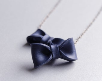 Pretty Bow Necklace, Colorful Statement Necklace, Gifts for Her Under 25, Unique and Fun Jewelry, Uncommon Gifts