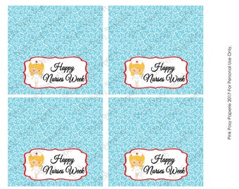 Printable Happy Nurses Week Bag Toppers - Instant Download