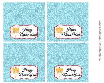 Printable Happy Nurses Week Bag Toppers - Instant Download