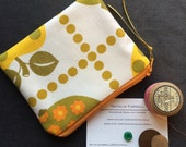Vintage Apple Fabric Coin Purse