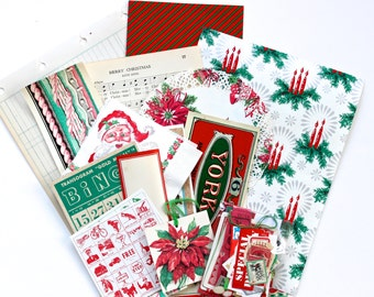 Vintage Red Green Christmas Inspiration Pack