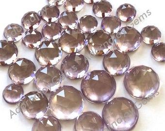 Gemstone Cabochon Pink Amethyst 10mm Rose Cut FOR ONE