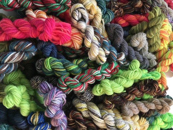 Luxury Sock Yarn Mini Skein Grab Bag - 100+ Yards Total, FREE shipping!