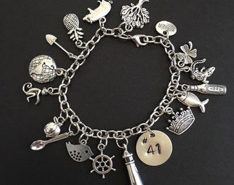 Dave Matthews Band Song Inspired Charm Bracelet Loaded with 17 Charms .....23 CHARMS to choose from