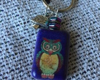 Owl Key Chain or Bag Charm