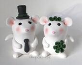 Custom Mouse Cake Topper Wedding