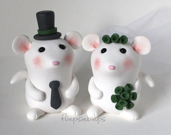 Custom Mouse Cake Topper Wedding