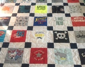 Reserved for Sarah BABY CLOTHES Quilt Twin Size Bed Heirloom Memory Quilt Custom Order - Using Your Baby Clothes 68x86