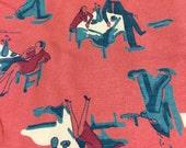 4 yards 1940s 50s rayon novelty print
