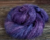Hand Dyed Yarn, Purple, Mohair, Nylon, Wool, Worsted, Indie Dyer, Fiber Arts, Knit,  Crochet, Weave
