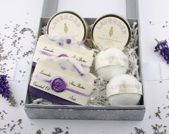 Delux Lavender Spa Gift Set - Gift For Her - Gift For women -  Gift For Mom - Mothers Day Gift - Valentines Day Gift
