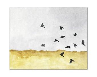Autumn Crows // archival print