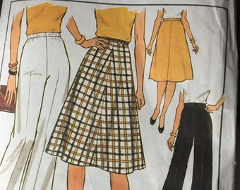 Simplicity Pattern 7899, 70'S Skirt Pattern, Women's Skirt Pattern, Vintage Pattern, Size G, 40, 42,44,46, Etsy, Etsy Vintage