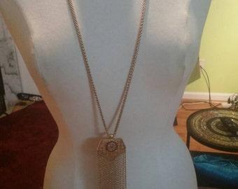 Unsigned Modernist Vintage Fringe Necklace