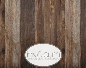 "Photography Backdrop 5ft x 5ft, Vinyl Photography Floordrop / Backdrop, Photo Rustic Old brown Wood, Studio Backdrop, ""Riverwood Planks"""