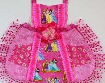Princess apron, girls apron, toddler apron, dress up, costume