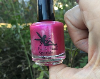 Sparklin' Rose Handmade 5Free Nail Polish 15 ML