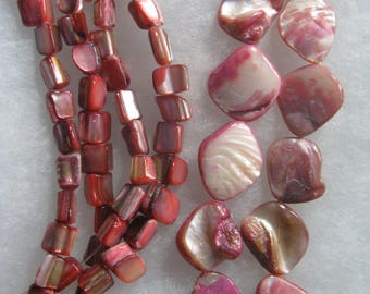 100 Mother of Pearl Shell Beads Nuggets 6-8mm - 15-20mm Beads M2-1