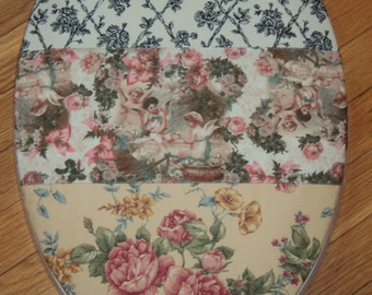 Edwardian Toile Angels Toilet Seat Cover