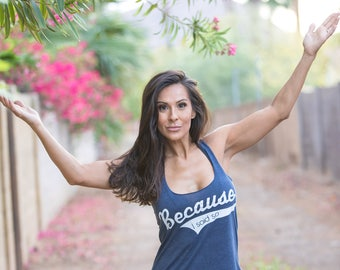 Because I Said So. Quote Tank Top. Slouchy Racer Tank. Made in the USA. 8 Colors to Choose From. Tank Top for Mom. Mom Shirt. Custom Tank.