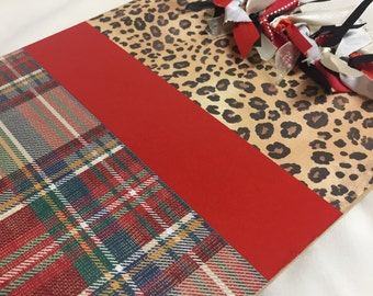 LEOPARD and TARTAN PLAID Clipboard