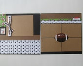 Football 2 Premade or DIY Kit,12x12 Scrapbook Layout, Scrapbook Page Kit, Project Life, Filofax
