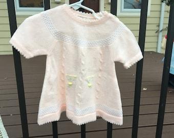 1970s Knit Dress 12/18 Months