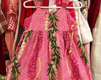 Pink Tropical Dress 3T