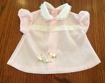 60s Pink Duckie Dress 0/6 Months