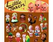 kewpie thanksgiving stickers cute big eye dolly baby boopsiedaisy sticky poos
