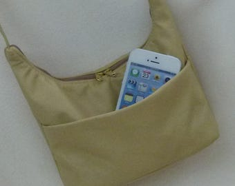 Hobo Sling Mini size beige leather