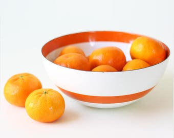 Vintage Cathrineholm Bowl, Orange Stripe  Bowl, 7""